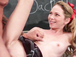 Schoolgirl Begs Her Teacher To Fuck Her Cunt On A Desk