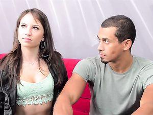 Beautiful Girl Fucks Her First Black Guy