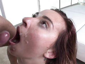 Fucking A Tight Teenage Temptress Makes Him Cum
