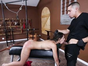 Cumshot On The Eye Of His Submissive Fuck Slut