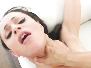 Inked Petite Teen Fuck Slut Takes His Hot Load