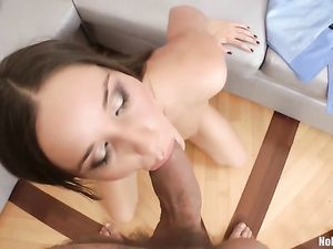 Slutty Beauty Takes His Super Thick Dick Anally