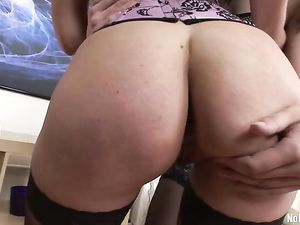 Dildo And Dick Double Penetration Of A Lingerie Girl