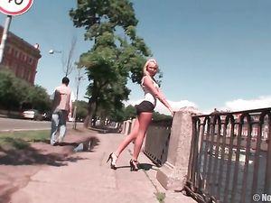 Braless Teen Walking Around In Public To Tease You