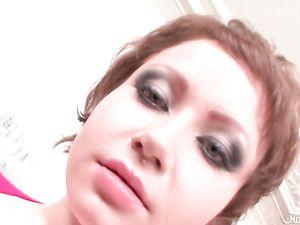Short Haired Teen Slut Gagging During A Deepthroat BJ