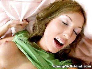 Great Titties On This Dick Sucking Teen Brunette