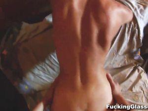 Skinny Teen Sucks His Hard Cock In The Hot Tub