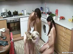 Messy Cream Play With Teen Lesbian Cuties