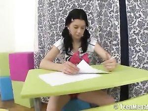 Teen Puts Her Homework Aside For Ass Fucking Fun
