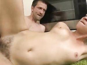 Nice Bush And Tits On His Hardcore Teen Slut