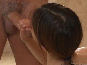 Shower Handjob From A Tiny Teenage Girl