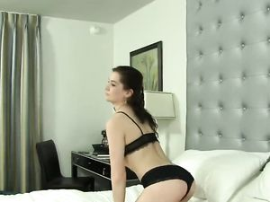Petite Girl With A Bush Fucks In The Hotel Room