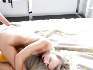 Fit Body Blonde Teen Takes His Cock For A Ride