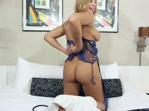 Oiled Babe With A Big Booty Fucks Doggystyle
