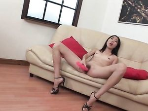 Crazy Asian Chick Tries Double Anal Sex