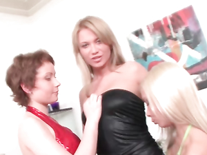 Upskirt Teasing Sluts Try Out Lesbian Anal Fisting
