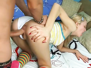 Adorable Blonde Is A Surprising Anal Slut