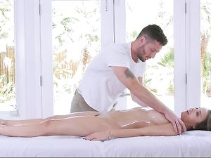 Oiled Dillion Harper Rides Big Dick To Orgasm