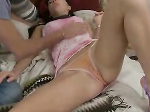 Tiny 18 Year Old Amazes Him With Anal Sex