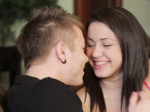 Romantic Love Making With Young Couple