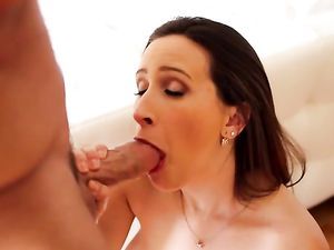 Schlong Fucks Her Mouth And Her Tight Cunt