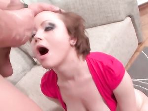 Deep Throat Blowjob And Cum In Her Mouth