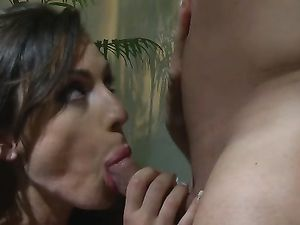 Blowing A Long Cock And A Doggy Style Fucking