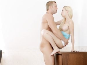 Gorgeous Big Tits Blonde Sucking And Fucking
