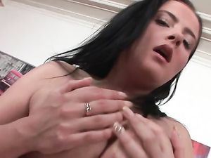 Busty Brunette Loves Getting Her Asshole Pounded
